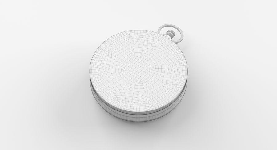 Gammalt kompass, riggat, högt och lågt poly, PBR royalty-free 3d model - Preview no. 17