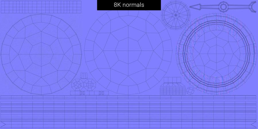 Gammalt kompass, riggat, högt och lågt poly, PBR royalty-free 3d model - Preview no. 24