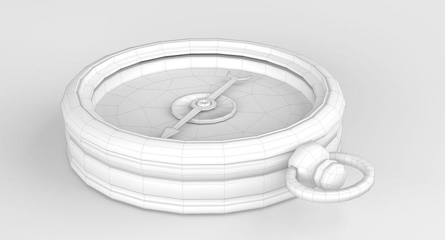 Gammalt kompass, riggat, högt och lågt poly, PBR royalty-free 3d model - Preview no. 9