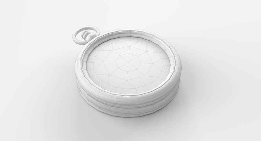 Gammalt kompass, riggat, högt och lågt poly, PBR royalty-free 3d model - Preview no. 6