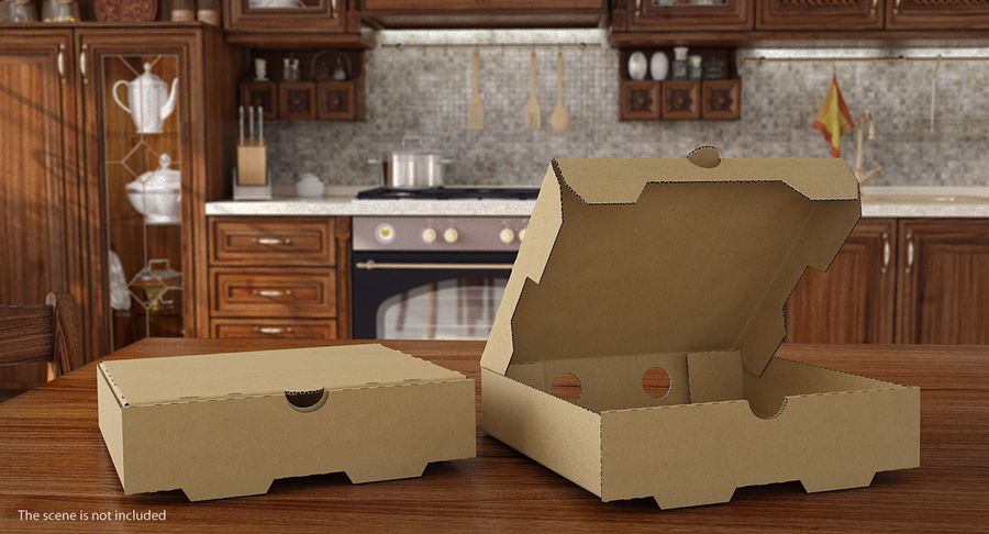 Fast Food Containers Collection royalty-free 3d model - Preview no. 4