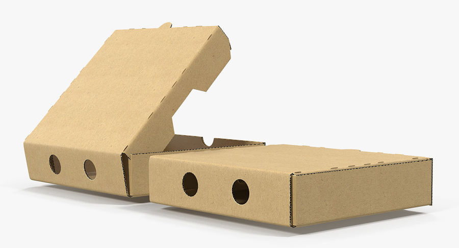 Fast Food Containers Collection royalty-free 3d model - Preview no. 6
