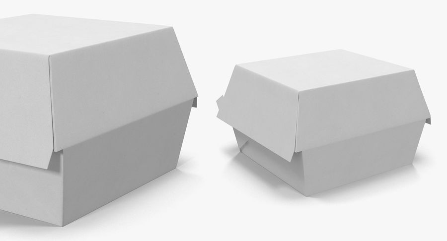 Fast Food Containers Collection royalty-free 3d model - Preview no. 15