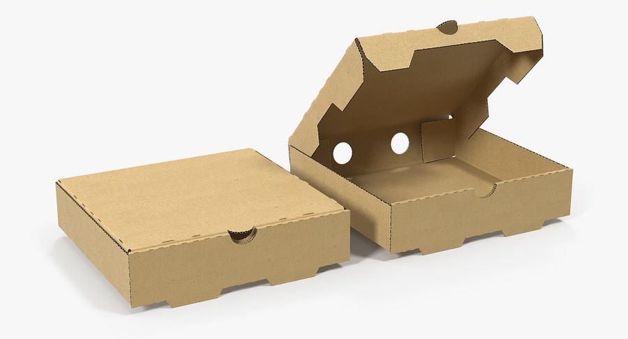 Fast Food Containers Collection royalty-free 3d model - Preview no. 5