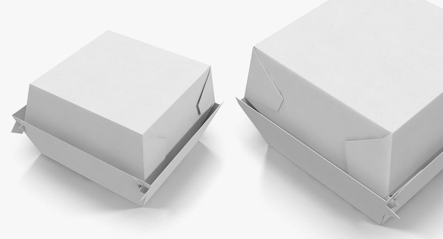 Fast Food Containers Collection royalty-free 3d model - Preview no. 16