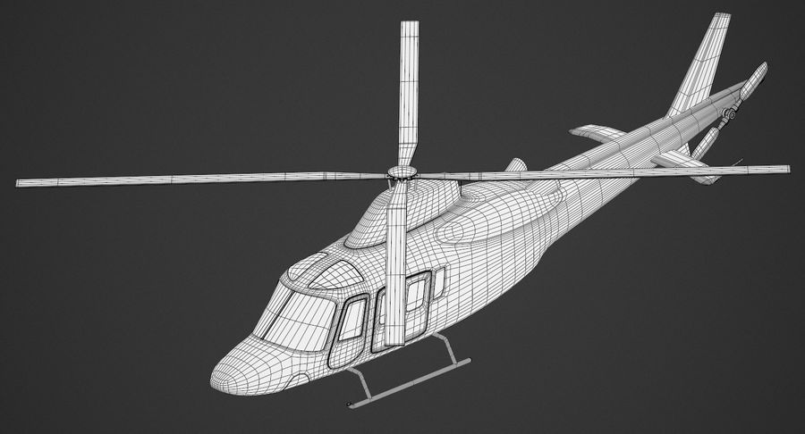 Agusta Westland AW109 Helikopteri (Gezgin Kamera) royalty-free 3d model - Preview no. 10