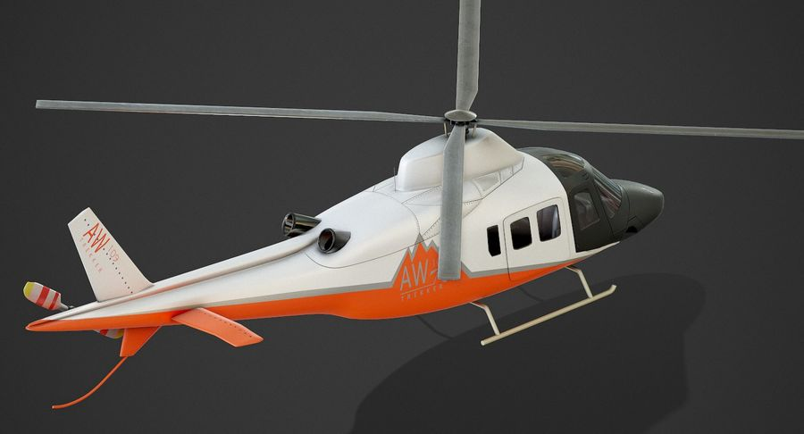 Agusta Westland AW109 Helikopteri (Gezgin Kamera) royalty-free 3d model - Preview no. 8