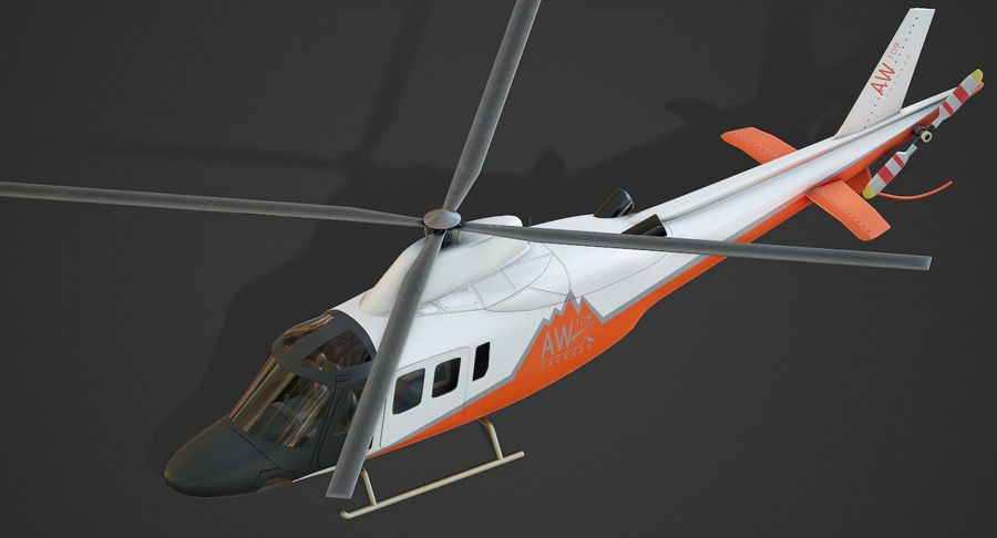 Agusta Westland AW109 Helikopteri (Gezgin Kamera) royalty-free 3d model - Preview no. 7