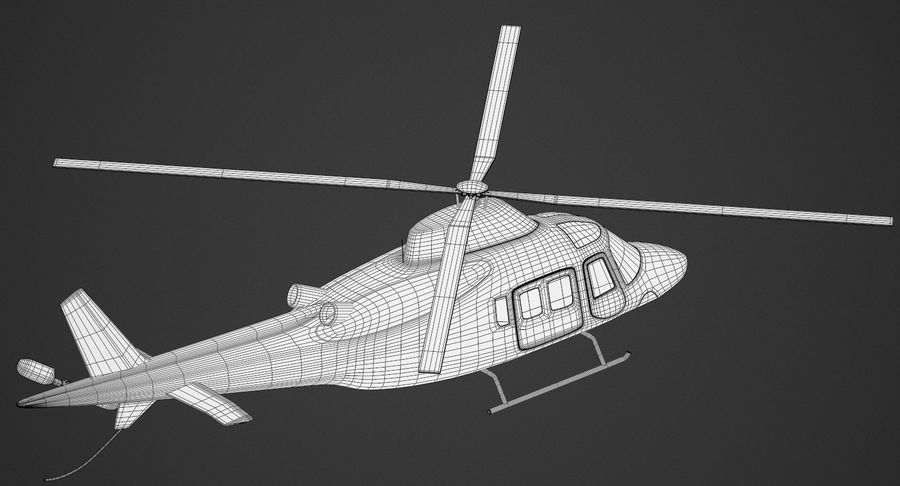 Agusta Westland AW109 Helikopteri (Gezgin Kamera) royalty-free 3d model - Preview no. 12