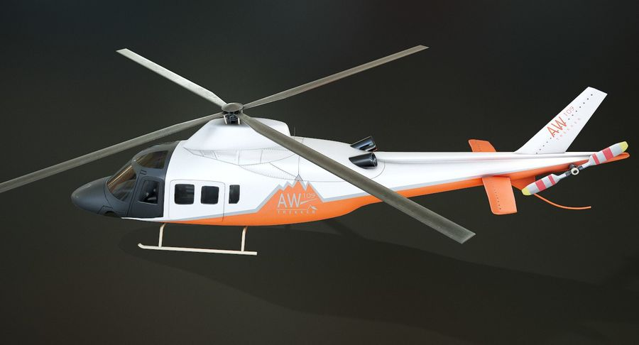 Agusta Westland AW109 Helikopteri (Gezgin Kamera) royalty-free 3d model - Preview no. 6