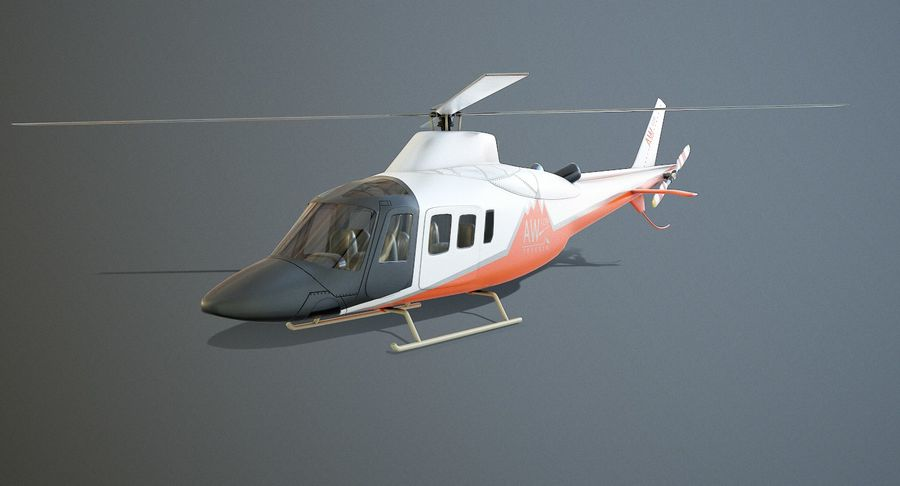Agusta Westland AW109 Helikopteri (Gezgin Kamera) royalty-free 3d model - Preview no. 2