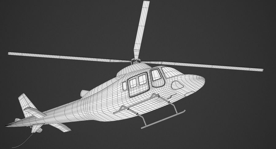 Agusta Westland AW109 Helikopteri (Gezgin Kamera) royalty-free 3d model - Preview no. 11