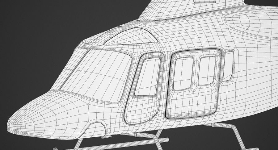 Agusta Westland AW109 Helikopteri (Gezgin Kamera) royalty-free 3d model - Preview no. 13