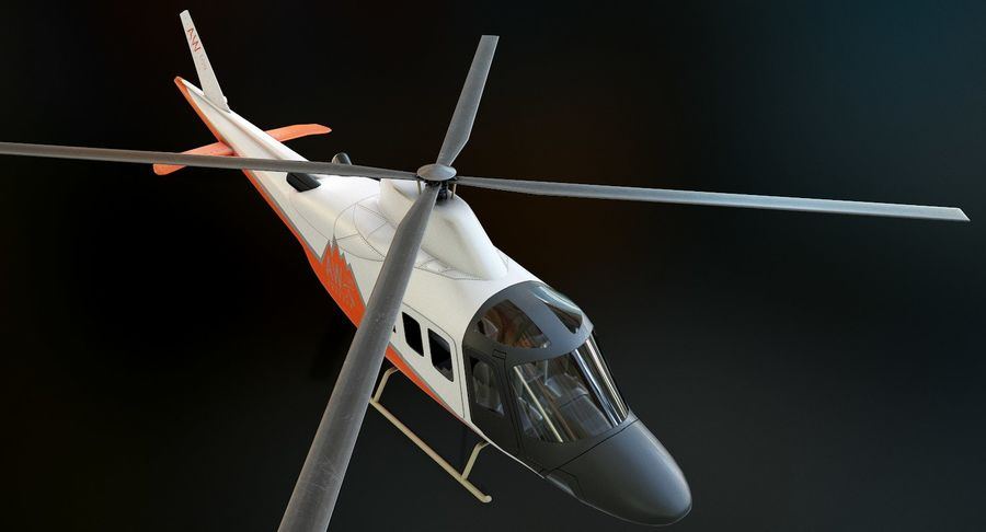 Agusta Westland AW109 Helikopteri (Gezgin Kamera) royalty-free 3d model - Preview no. 5