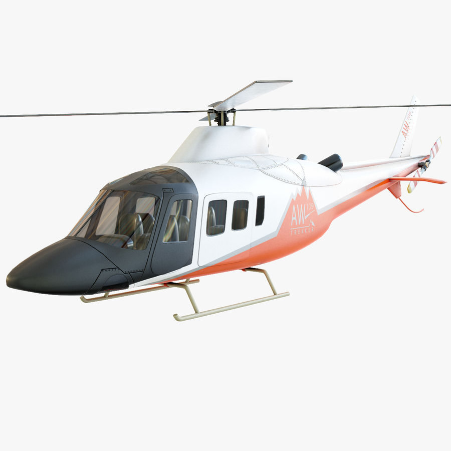 Agusta Westland AW109 Helikopteri (Gezgin Kamera) royalty-free 3d model - Preview no. 1