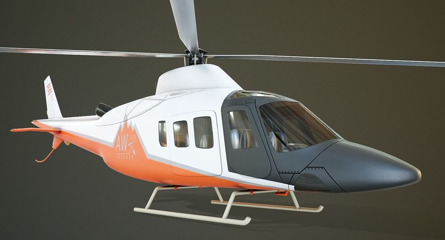 Agusta Westland AW109 Helikopteri (Gezgin Kamera) royalty-free 3d model - Preview no. 3