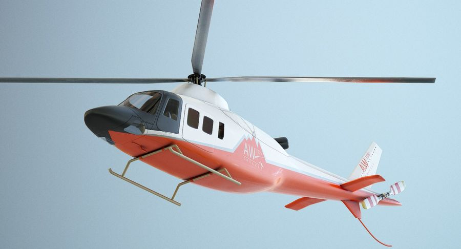 Agusta Westland AW109 Helikopteri (Gezgin Kamera) royalty-free 3d model - Preview no. 9