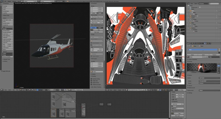 Agusta Westland AW109 Helikopteri (Gezgin Kamera) royalty-free 3d model - Preview no. 20