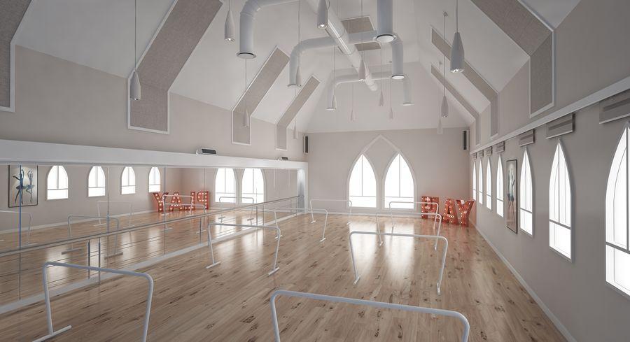 Ballet-Dance Studio royalty-free modelo 3d - Preview no. 5