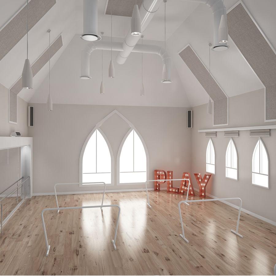 Ballet-Dance Studio royalty-free modelo 3d - Preview no. 1