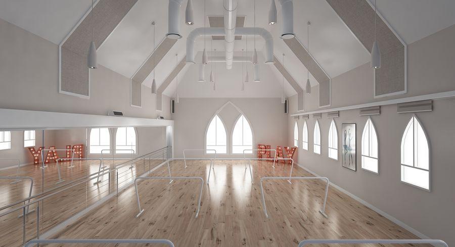 Ballet-Dance Studio royalty-free modelo 3d - Preview no. 7