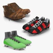 Buty piłkarskie Kolekcja modeli 3D 2 3d model
