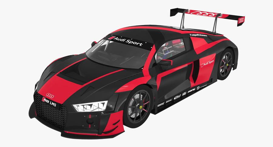 Audi R8 LMS GT3 royalty-free 3d model - Preview no. 2