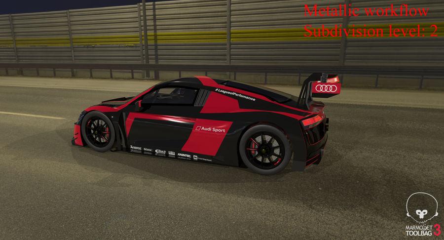 Audi R8 LMS GT3 royalty-free 3d model - Preview no. 44