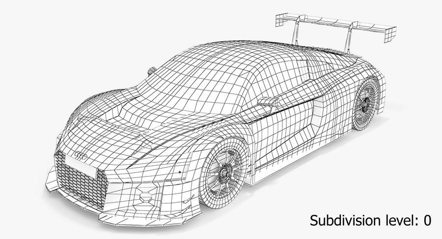 Audi R8 LMS GT3 royalty-free 3d model - Preview no. 4