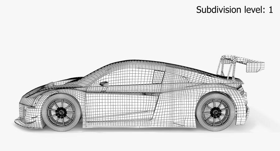 Audi R8 LMS GT3 royalty-free 3d model - Preview no. 11