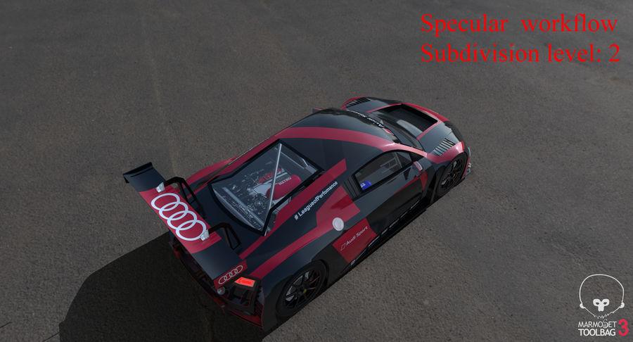 Audi R8 LMS GT3 royalty-free 3d model - Preview no. 54
