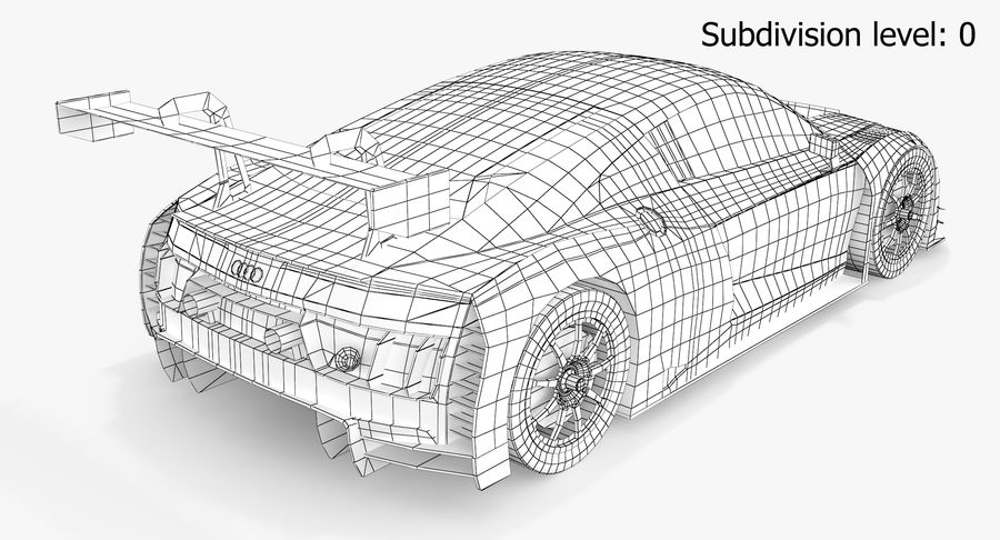 Audi R8 LMS GT3 royalty-free 3d model - Preview no. 7
