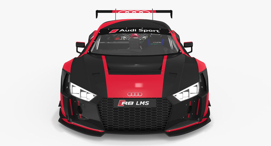 Audi R8 LMS GT3 royalty-free 3d model - Preview no. 12