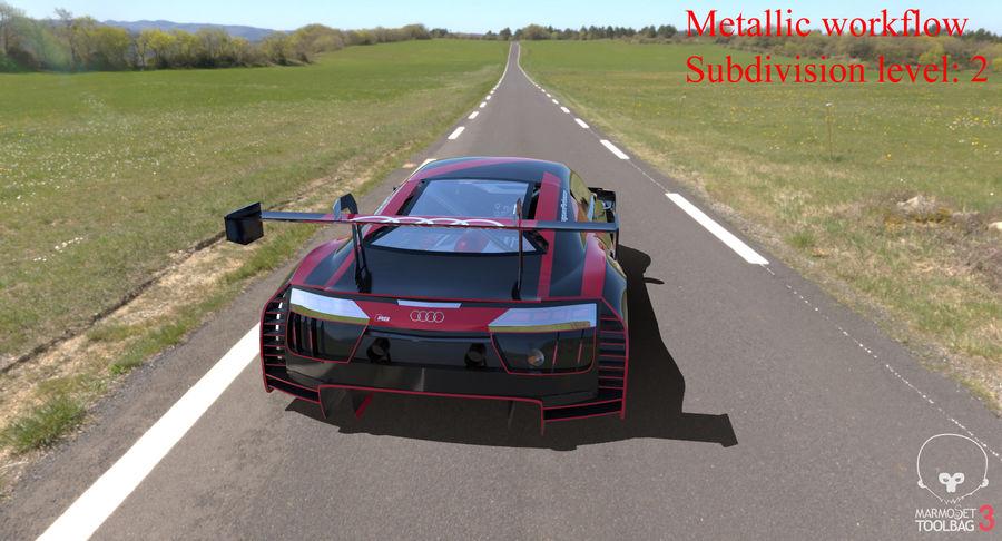 Audi R8 LMS GT3 royalty-free 3d model - Preview no. 41