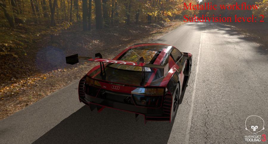 Audi R8 LMS GT3 royalty-free 3d model - Preview no. 43