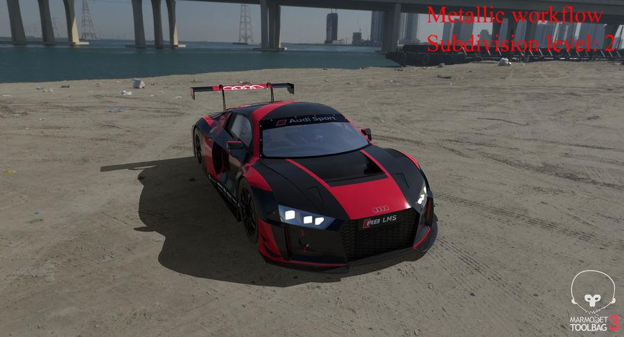 Audi R8 LMS GT3 royalty-free 3d model - Preview no. 46