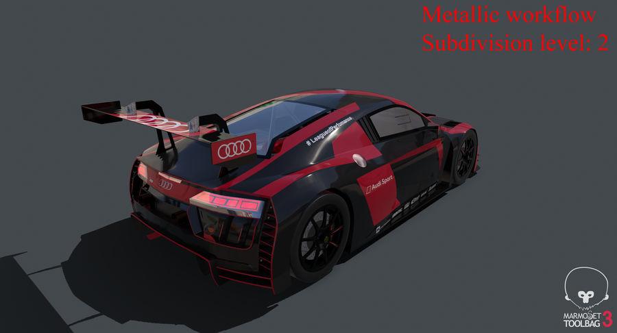 Audi R8 LMS GT3 royalty-free 3d model - Preview no. 33