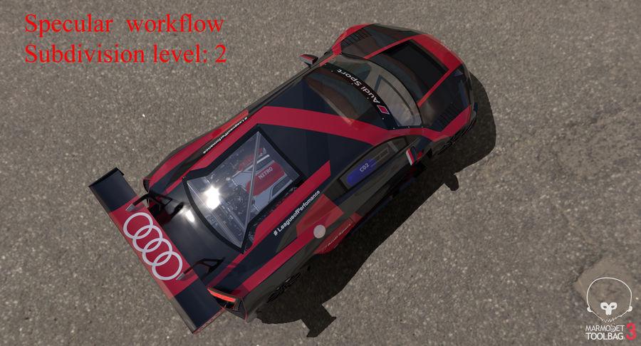Audi R8 LMS GT3 royalty-free 3d model - Preview no. 48