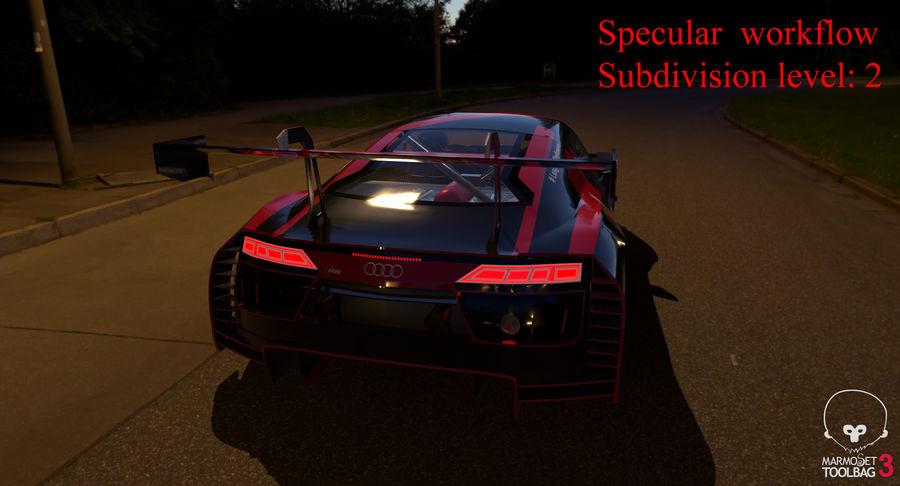 Audi R8 LMS GT3 royalty-free 3d model - Preview no. 57
