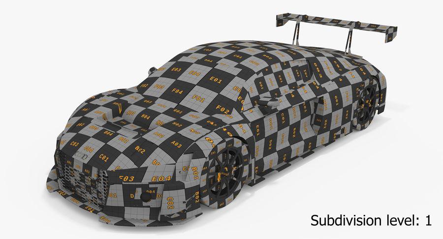 Audi R8 LMS GT3 royalty-free 3d model - Preview no. 24