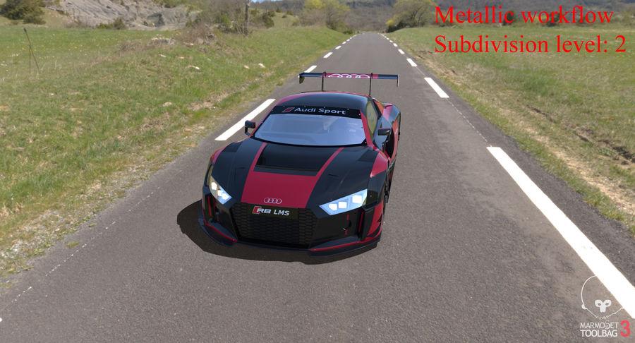 Audi R8 LMS GT3 royalty-free 3d model - Preview no. 38