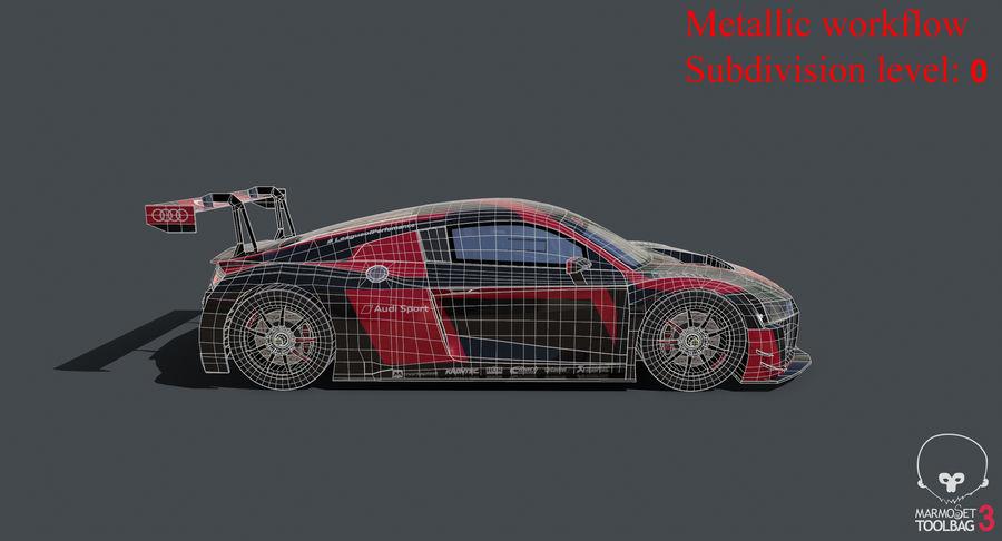 Audi R8 LMS GT3 royalty-free 3d model - Preview no. 35