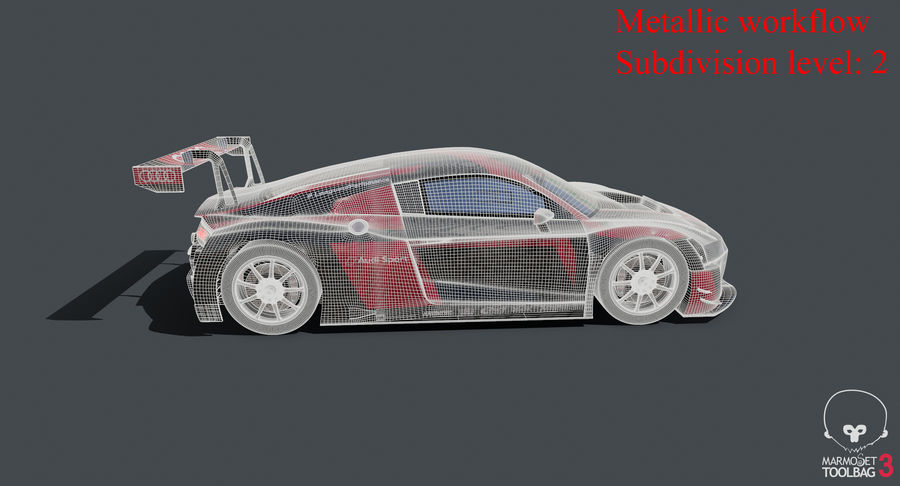 Audi R8 LMS GT3 royalty-free 3d model - Preview no. 34