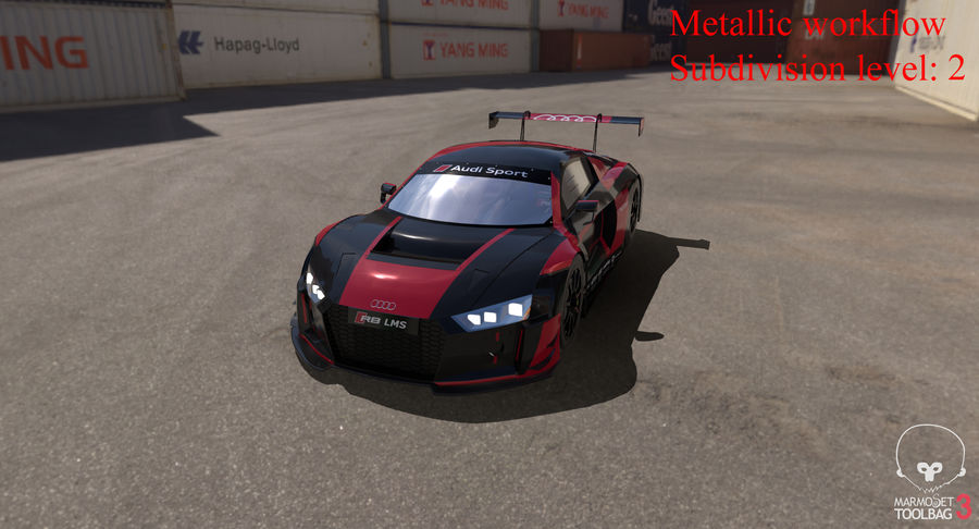 Audi R8 LMS GT3 royalty-free 3d model - Preview no. 37