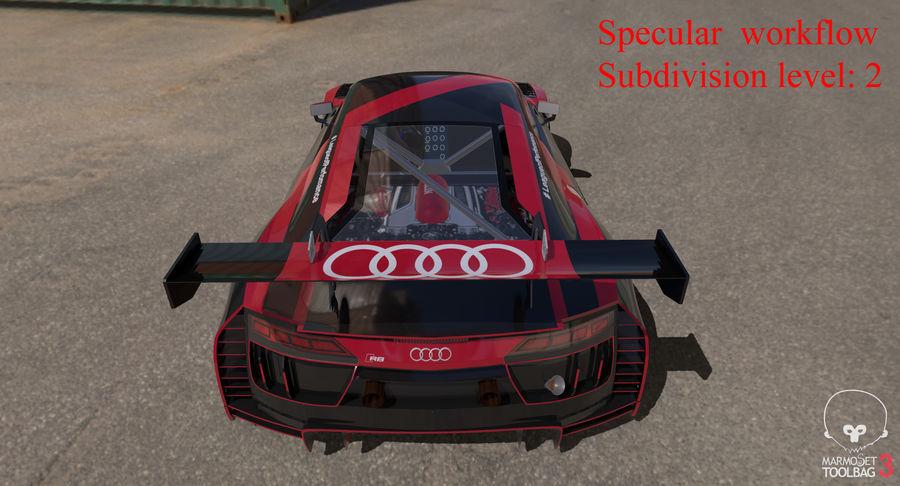 Audi R8 LMS GT3 royalty-free 3d model - Preview no. 51