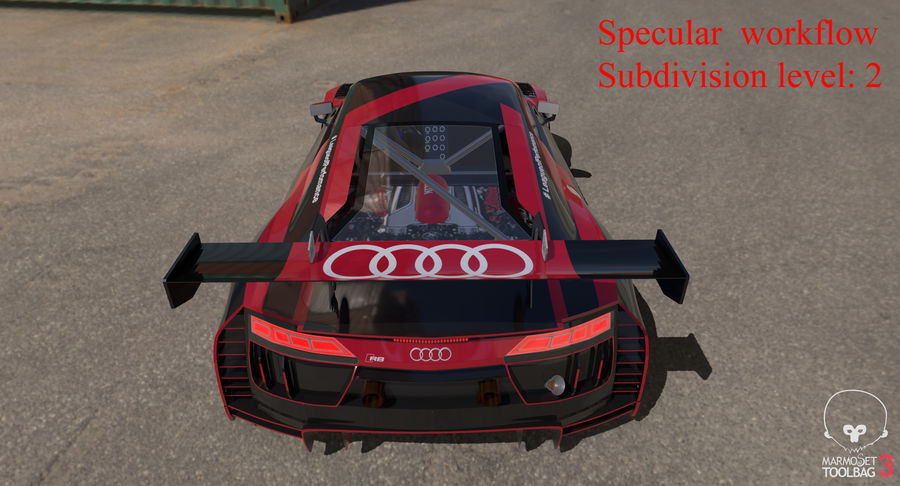 Audi R8 LMS GT3 royalty-free 3d model - Preview no. 50
