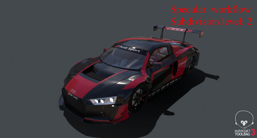 Audi R8 LMS GT3 royalty-free 3d model - Preview no. 47