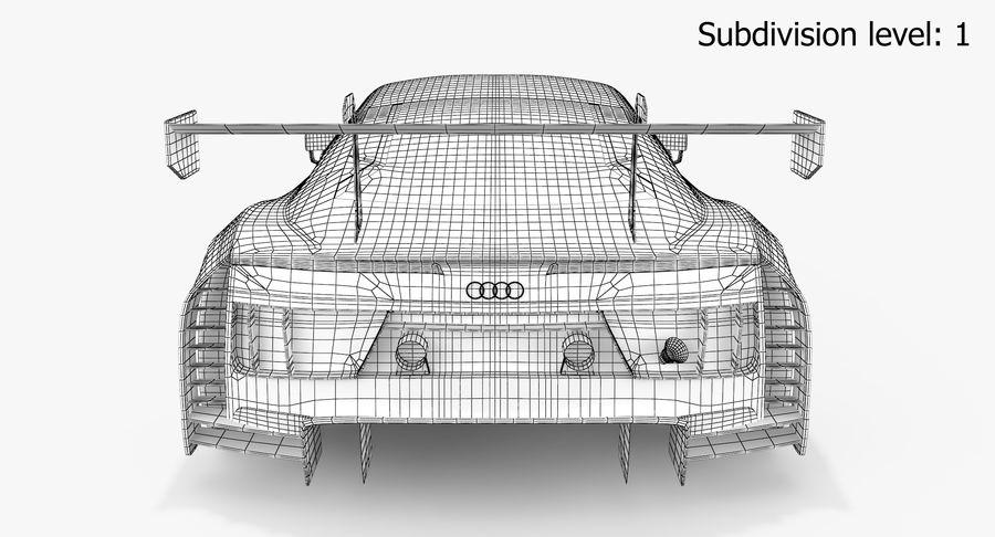 Audi R8 LMS GT3 royalty-free 3d model - Preview no. 19