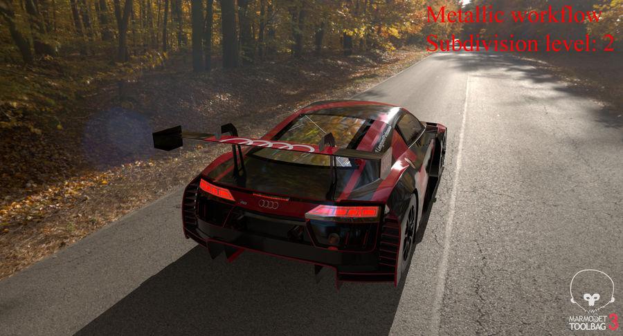 Audi R8 LMS GT3 royalty-free 3d model - Preview no. 42