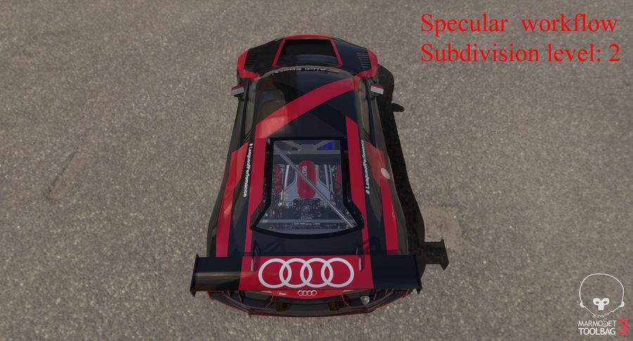 Audi R8 LMS GT3 royalty-free 3d model - Preview no. 49
